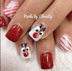 Christmas Reindeer Nail Art Ideas.