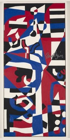 Composition Concrete (Study for Mural) / Stuart Davis / 1957-60 / oil on canvas