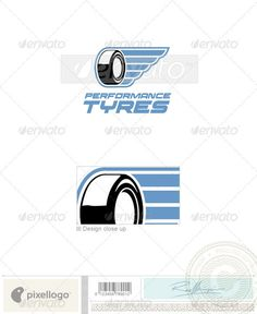 Transport Logo  386 — Photoshop PSD #auto #tire • Available here → https://graphicriver.net/item/transport-logo-386/496657?ref=pxcr