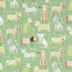Cotton Colourful Dog 4 - Cotton - green