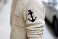 Anchor knit sweater
