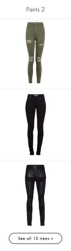 """""""Pants 2"""" by smilie-anne ❤ liked on Polyvore featuring jeans, khaki, ripped jeans, distressed skinny jeans, skinny jeans, khaki skinny jeans, stretch skinny jeans, pants, bottoms and calças"""