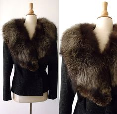 Hey, I found this really awesome Etsy listing at https://www.etsy.com/listing/472538883/40s-ww2-silver-fox-forstmann-black-wool