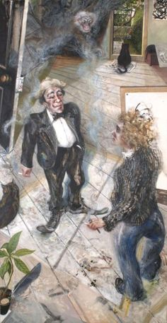 Max And Me - In Praise of Smoking by Maggi Hambling Maggi Hambling, Southampton City, Birmingham Museum, Museum Art Gallery, Art Society, National Portrait Gallery, Art Uk, City Art, Paintings