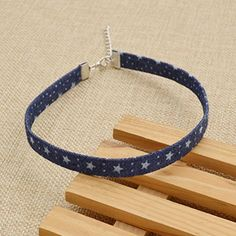 Amazon.com: Simple Denim Collar Necklace for Women Girls Choker Necklace Christmas Gift 1 Pc: Jewelry