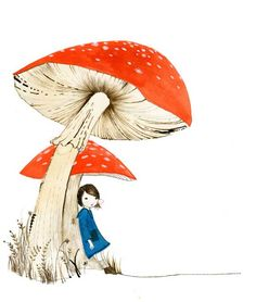 © julie morstad 2011 *love toadstools*