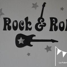 Bavoir bébé imprimé rock/'n/'roll agreement
