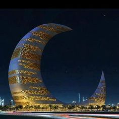 Moon Tower, Dubai... wow!! This tower is so weird to see in person!