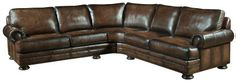 Bernhardt | Foster Sectional Sofa (50L)  Very Nice! I love nail head/roll arm couches. Nice vintage look to them.