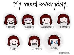 my Mood everyday Cartoon Images, Funny Images, Funny Pictures, Bad Mood Quotes, Hate School, School Starts, School Days, School Cartoon, Friday Saturday Sunday