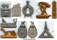Woche des Berufes (Work or Occupation week)__ADV__Source: Wood, Wolverhampton, England Wolverhampton, Charitable Donations, Pin Badges, Third, Ss, England, English