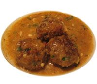 Albondigas con Salsa de Perejil - Recipe for Meatballs with Parsley Sauce