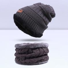 Fashion Knitted Warm Skullies Beanies Winter Hat for Men - 6 Colour - Gray + Colar Scarf  Skullies & Beanies For Men   Men's Fashion 2017 Guys Winter Fashion Casual Menswear Cool Style Gift Knit Products Website Store Shop Buy Sell Sale Online Shopping mens Accessories fall autumn accessoire hiver bonnet homme  modèle mode Achat Acheter en ligne Site de vente l'automne crochet tricoté AuhaShop.com
