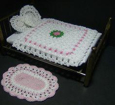 Miniature Dollhouse Bedspread and rug