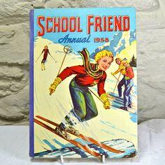 Childrens Book 1950s  School Friend Annual 1958  by FeltersCottage