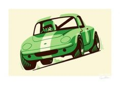Lotus Elan print by Guy Allen | Car Gifts, Motoring Gifts and Merchandise | Gearbox Gifts