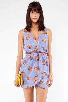 Petunia Cross Dress in Periwinkle $35 at www.tobi.com