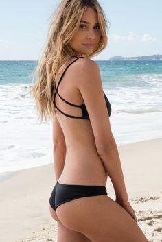 Frankie's Bikinis - Marina Bottom | Black - The Girl and The Water - 1
