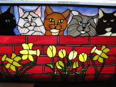 Custom Made Stained Glass Pets Panels