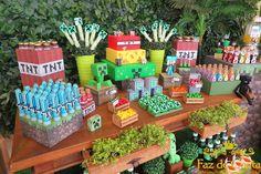 potinho-vidro-brigadeiro-minecraft-2 Diy Minecraft Birthday Party, Minecraft Party Decorations, 6th Birthday Parties, Birthday Fun, Mindcraft Party, Minecraft Food, Ideas Para Fiestas, Crafts, Lucca