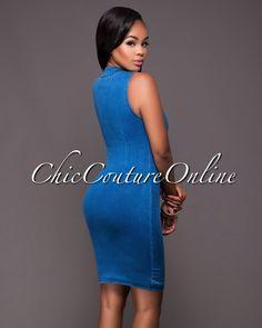 Chic Couture Online - Jory Medium Wash Denim Body-Con Dress.(http://www.chiccoutureonline.com/jory-medium-wash-denim-body-con-dress/)