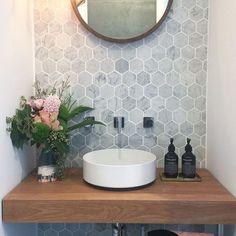 49 Simply Black And White Tile Bathroom Decor Ideas Guest Bathrooms, Bathroom Renos, Master Bathroom, Rental Bathroom, Bathroom Renovations, Downstairs Bathroom, Small Downstairs Toilet, Master Master, Relaxing Bathroom