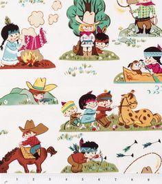 Novelty Cotton Fabric- Retro Kids Cowboy: quilting fabric & kits: fabric: Shop | Joann.com