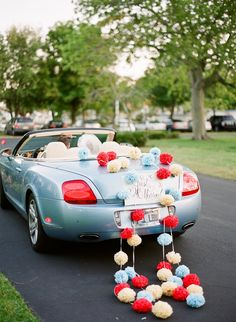 Getaway wedding car