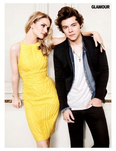 Rosie Huntington-Whiteley and Harry Styles in Glamour, August 2013. Awwww