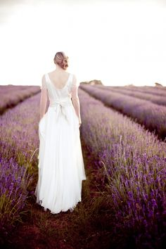 Mayfield Lavender Fields Bridal Inspiration shoot, UK- there are lavender fields nearby here...