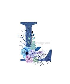 Monogram L Icy Winter Bouquet by floralmonogram Monogram Wallpaper, L Wallpaper, Cute Wallpaper Backgrounds, Cute Cartoon Wallpapers, Alphabet Letters Design, Alphabet Print, Letter Art, Monogram Letters, Floral Letters