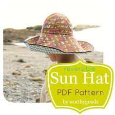 5ac20d19163 Sun Hat PDF Pattern - Womens Over the Top Sunhat DIY Sewing Project Pattern  - Floppy Hat Digital Fil