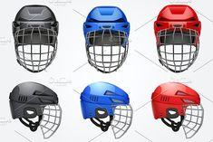 Classic Goalkeeper Hockey Helmet by Vitamin on @creativemarket