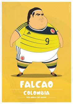 Parodias de futbolistas gordos por Fulvio Obregon de Colombia - Frogx Three