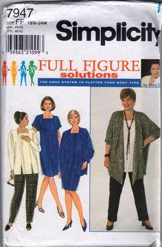Plus Size Jacket Tunic Pants Sewing Pattern White one, sleevless. Tunic Sewing Patterns, Plus Size Sewing Patterns, Clothing Patterns, Dress Patterns, Style Patterns, Clothing Ideas, Women's Clothing, Pants Pattern, Top Pattern
