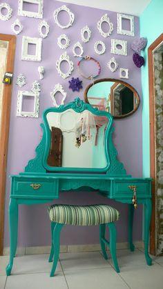 Ateliando - Customização de móveis antigos: Galeria Penteadeiras Antigas    Penteadeira Luciana Jabaquara by Ateliando