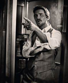 Christian Bale...Must be multifacted, dynamic.. executive swag with a throw down attitude.