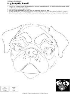 Dogs, Cats, and Other Pets | 22 Downloadable Dog Breed Pumpkin Stencils | POPSUGAR Pets Photo 35