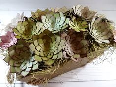 Hey guys, so I thought I would share a video I posted to my Stampin' Up YouTube channel with you. It is a succulent piece I created using Stampin' Up product...