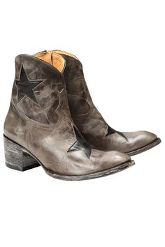 Boots cuir star Mexicana