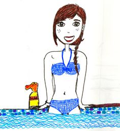 Illustration : piscine