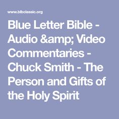 Blue Letter Bible Commentaries Chuck Smith | Hrsport