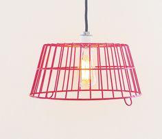 Red Egg Basket Lamp