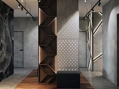 Enhance Your Senses With Luxury Home Decor Room Partition Designs, Hallway Designs, Interior Ceiling Design, Luxury Interior Design, Shelf Design, Wall Design, Wooden Vanity Unit, Modern Home Office Desk, Wood Slat Wall