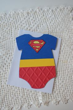 Superman baby onsie card superhero cards baby card by Funtography