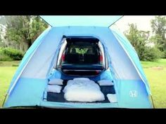Pilot Goes Glamping: How to Lose the Sleeping Bag. Sleep in true glamping style with the help of the all-new 2016 Pilot's available 115-Volt Power Outlet.