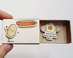 Gute Glück Karte / Cute Förderung Matchbox / Geschenkbox / | Etsy