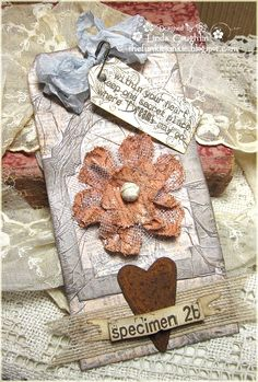 Tissue Wrap Collage from page 38 of the new Compendium of Curiosities II book by Tim Holtz