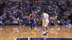 Stephen Curry crossover on George Hill