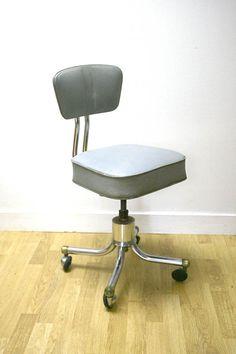 Fauteuil bureau vintage design industriel 5060 chambre Louis